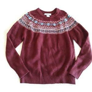 Cotton Emporium | Cozy Maroon Sweater